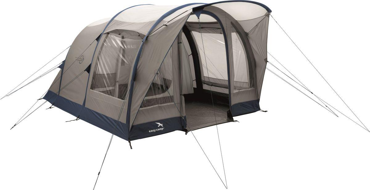 Палатка Easy Camp, 3-местная, цвет: бежевый, синий. 120253 палатка sol camp 3 цвет синий slt 007 06