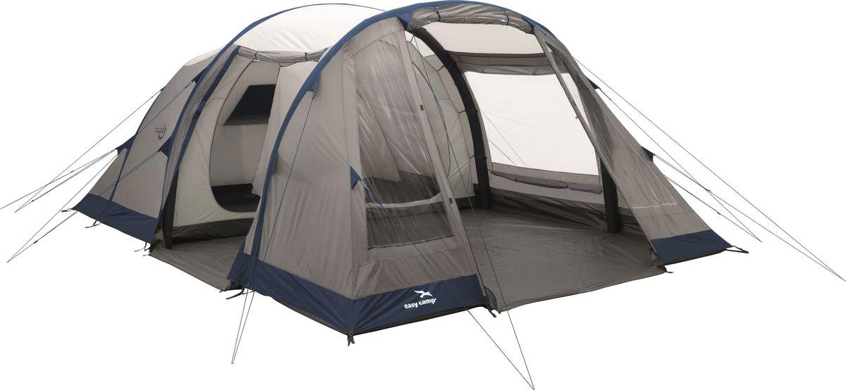 Стильная надувная палатка с отличным дизайном, тремя надувными баллонами, D-образными дверями и комфортной спальней, разделенной на 2 половины при помощи съемного разделителя. Подойдет парам и молодым семьям, которые выбирают надежность и хорошее соотношение цены и качества. Палатка рассчитана на 6 человек. Центральный и боковой вход, большие окна со шторками, вшитое дно и просторный тамбур делают отдых еще более комфортным и приятным. Как выбрать палатку – статья на OZON Гид.