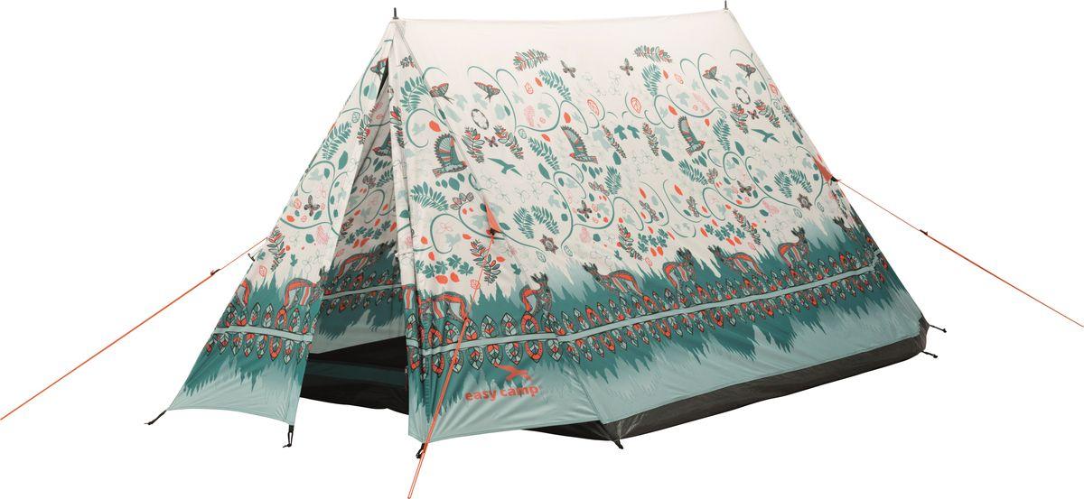"""Палатка """"Easy Camp"""", 2-местная, цвет: бежевый, зеленый. 120258"""