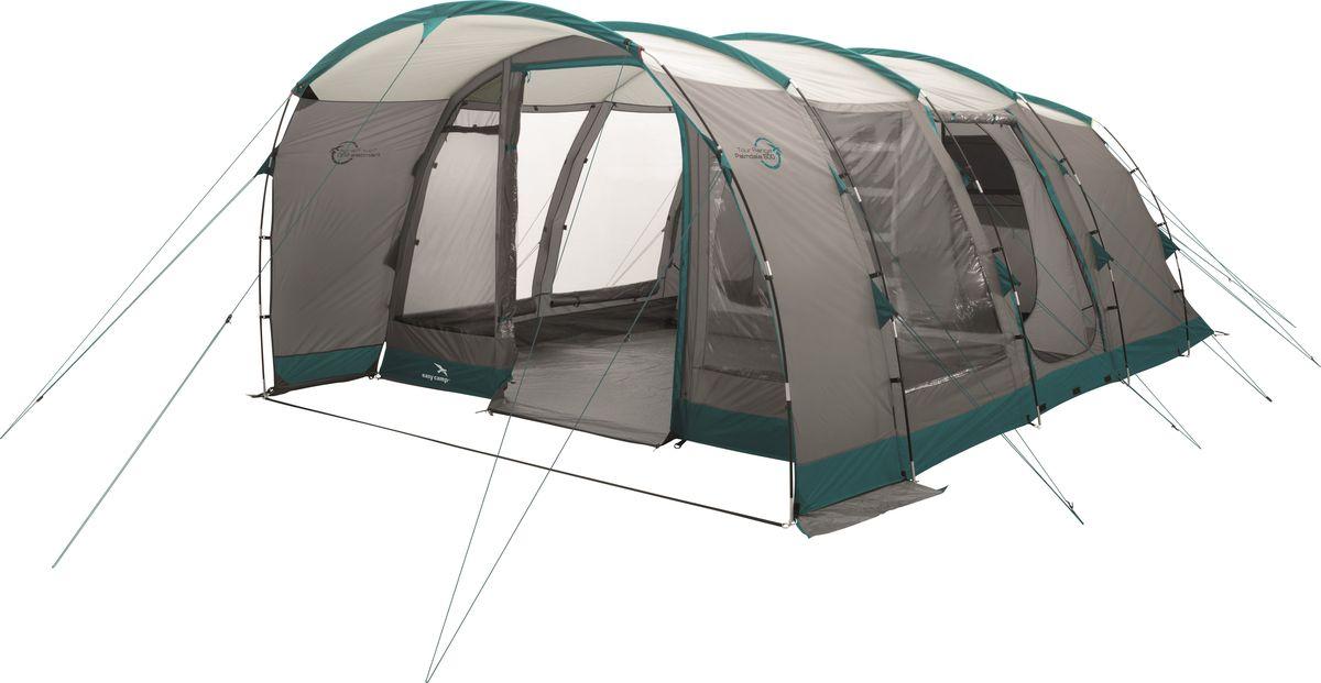 Просторная ростовая палатка для 6 человек с большим внутренним тентом и двойными дверями - отличный выбор для большой семьи.Разделитель на молнии позволяет удачно зонировать спальню. Основными характеристиками палатки являются гибкие стойки из стекловолокна, D-образная дверь, большие вентиляционные отверстия и боковая дверь с москитной сеткой. Как выбрать палатку – статья на OZON Гид.