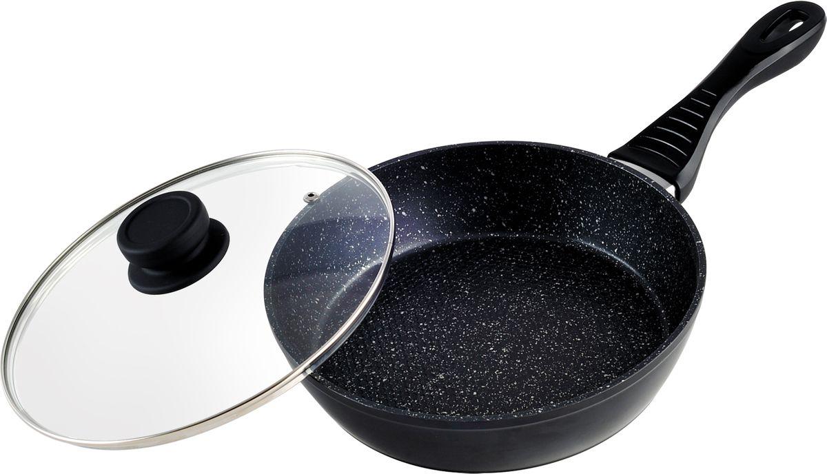 Сковорода с высококачественным покрытием прекрасно подходит для приготовления продуктов. Благодаря специальному покрытию, на ней можно приготовить разнообразные блюда из мяса, рыбы, птицы и овощей практически не используя масло. Готовое блюдо получится не только вкусным, но и полезным. Сковорода снабжена эргономичной ручкой, которая не нагревается в процессе приготовления пищи.Алюминиевая сковорода.