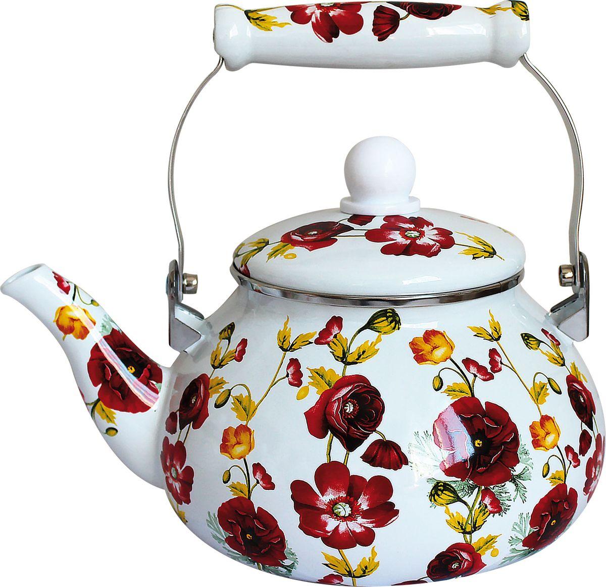 Чайник Rainstahl, , цвет: белый, 2,4 л. 7531-24RS\KL отделитель вишневых косточек rainstahl цвет белый красный