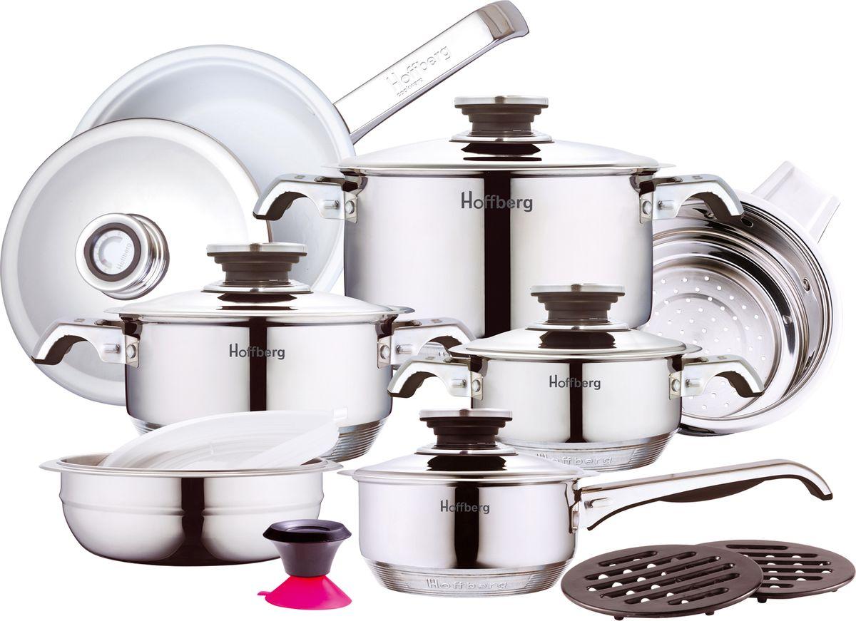Набор посуды Hoffberg, 17 предметов, цвет: белый, . 1729HFF набор посуды rainstahl 8 предметов 0716bh