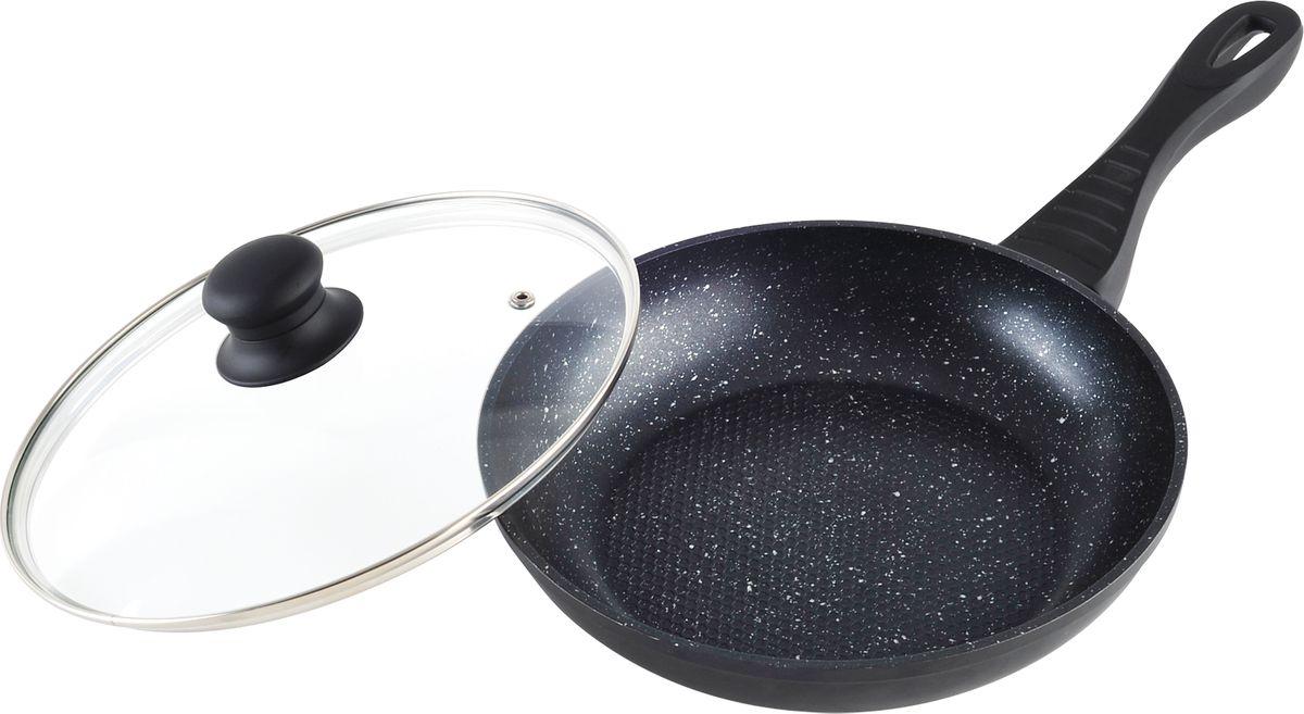 Сковорода с высококачественным покрытием прекрасно подходит для приготовления продуктов. Благодаря специальному покрытию, на ней можно приготовить разнообразные блюда из мяса, рыбы, птицы и овощей практически не используя масло. Готовое блюдо получится не только вкусным, но и полезным. Сковорода снабжена эргономичной ручкой, которая не нагревается в процессе приготовления пищи.Алюминиевая сковорода.Мраморное покрытие в форме сот. Размер: 22 х 22 х 4,5 см.