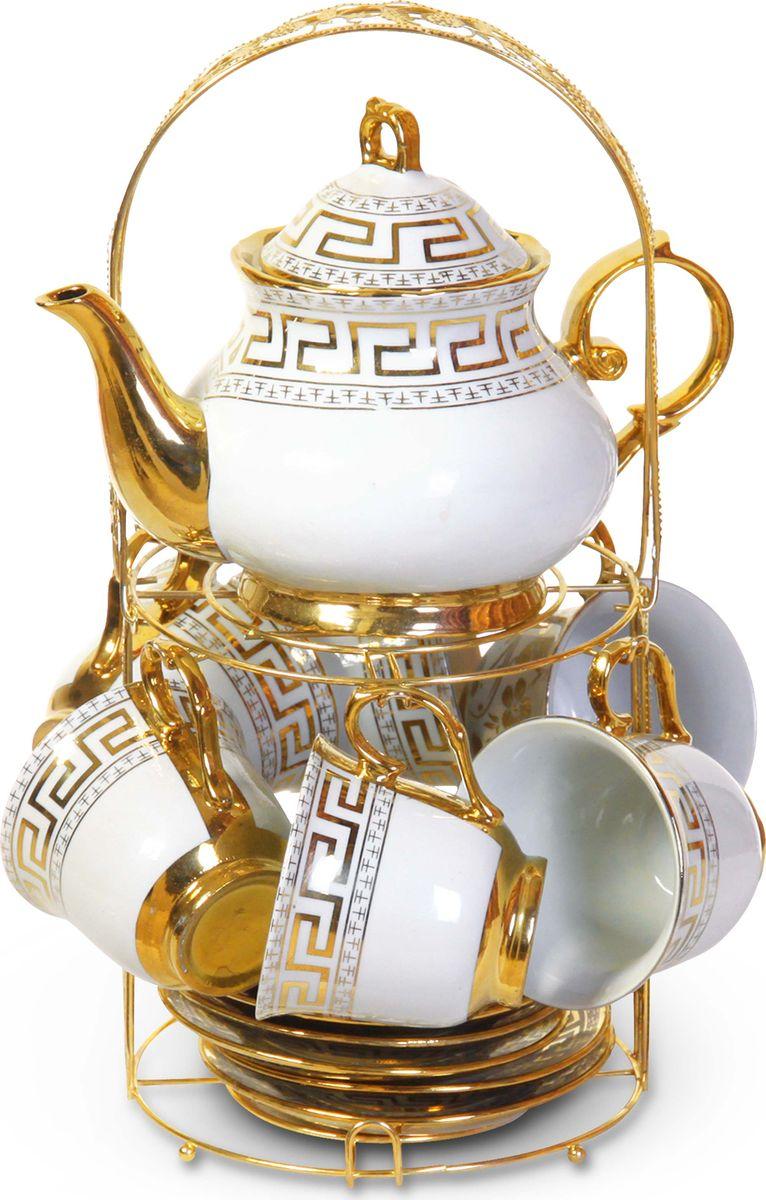 """Чайный сервиз """"Bohmann"""" станет незаменимым элементом среди коллекции вашей посуды. Ежедневное чаепитие в компании семьи или друзей ни с чем не сравнить. И тут не обойтись без красивой посуды, из которой приятно выпить ароматного чаю. Посуда выполнена из качественного белого фарфора, украшенного изящным узором.14 предметов на 6 персон."""
