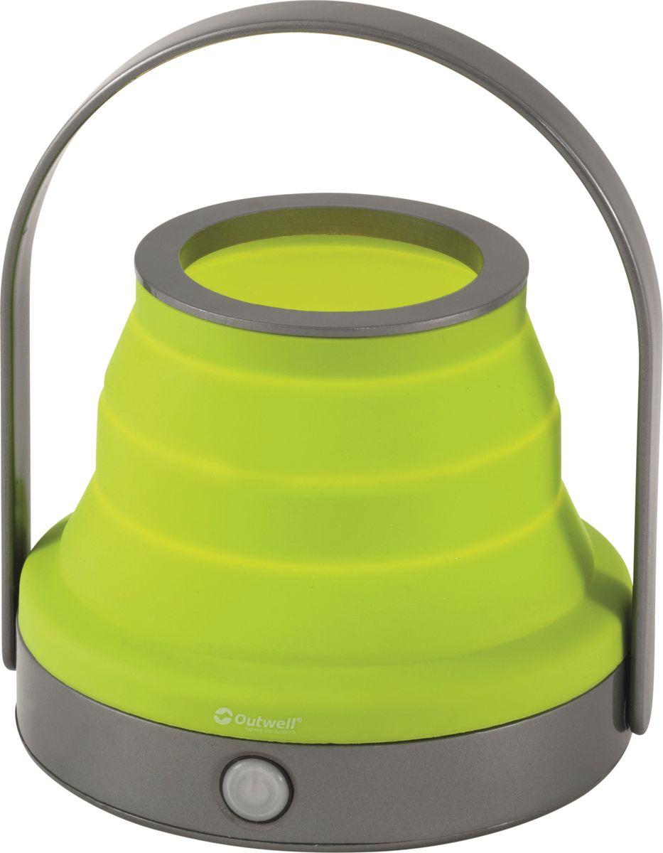 Фонарь кемпинговый Outwell Doradus Lime, 200 Люм650758Особенности: - складной; - компактный в сложенном виде; - легко развернуть и сложить; - встроенный регулятор силы света 10 – 100%; - зажмите кнопку, чтобы приглушить свет; - два варианта использования – настольный или подвесной.