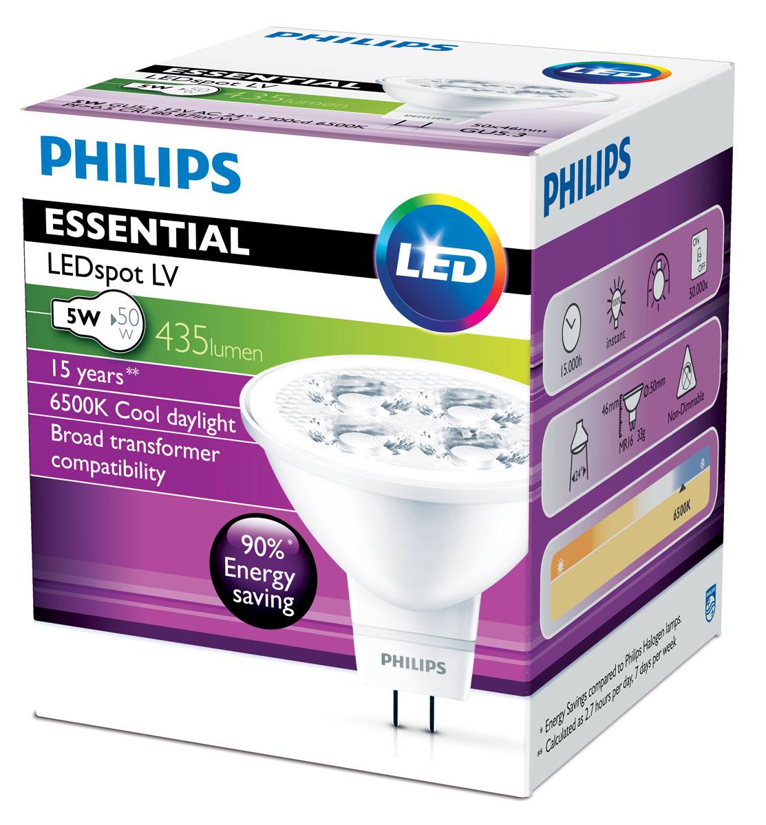 Светодиодные лампы акцентного освещения Philips создают яркий направленный световой луч, отличаются долгим сроком службы и высокими характеристиками энергосбережения.