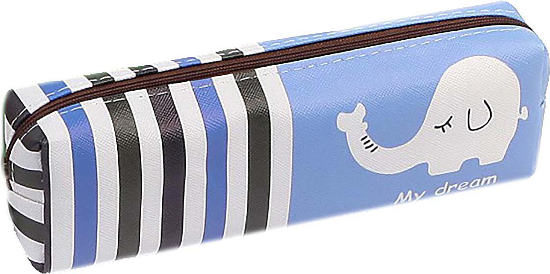 Calligrata Пенал школьный Слоник цвет синий