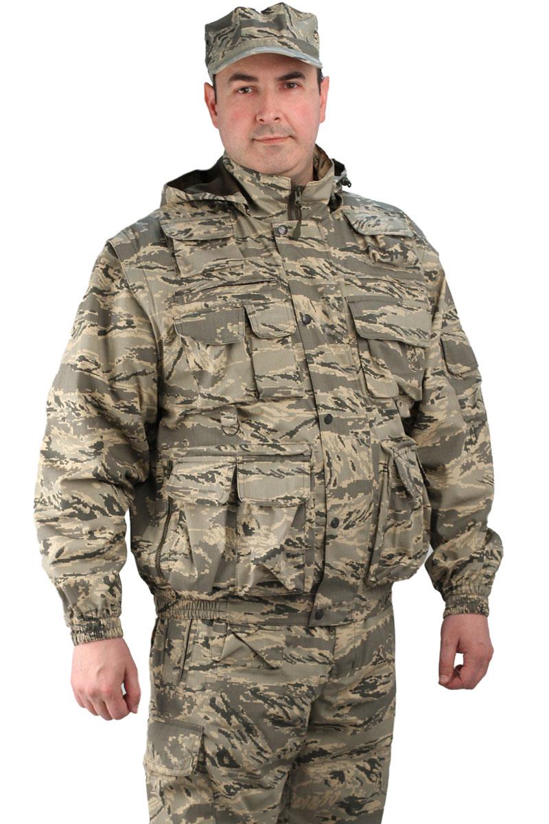 Костюм мужской URSUS Gerkon Commando Transform: куртка, брюки, цвет: хаки. КОС402-К81. Размер 44/46-170/176КОС402-К81Костюм камуфляжный состоит из куртки и брюк. Многофункциональная модель-трансформер (куртка-жилет и брюки-шорты). Многофункциональные объемные карманы, отстегивающиеся рукава и низ брюк, съемный капюшон на подкладке-сетка с регулировкой объема, складки на спинке для свободы движения. Короткая куртка на резинке, полочки на подкладке-сетка. Регулировка объема по низу брючин.