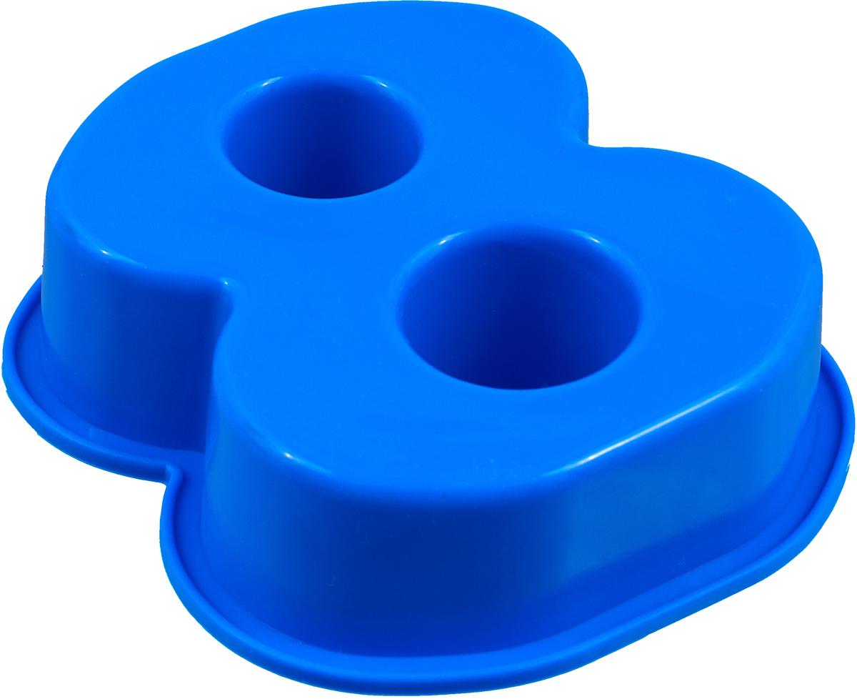 """Форма для выпечки Доляна """"Восемь"""", цвет: синий, 9,5 х 7,7 х 2,5 см"""