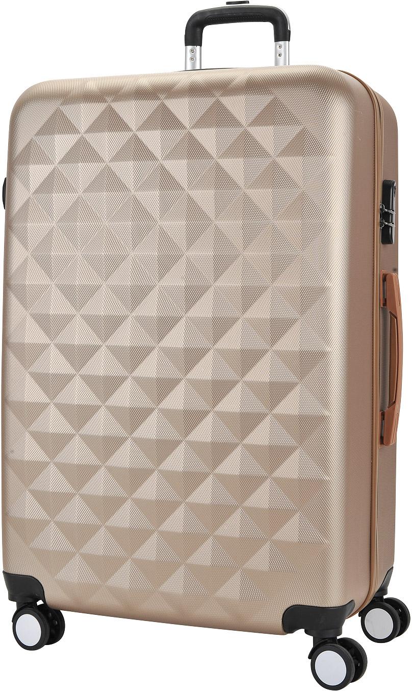 Чемодан Proffi, со встроенными весами, цвет: бежевый, 50 х 30 х 75 см, 120 л. PH8646 чемоданы proffi чемодан ретро