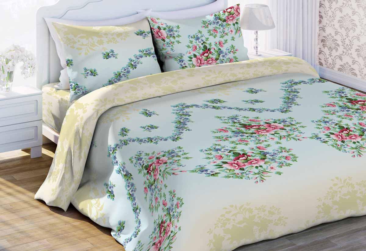 Комплект постельного белья Любимый дом Виолетта, 1,5 спальное, наволочки 70 x 70 любимый дом бязь гладиолусы