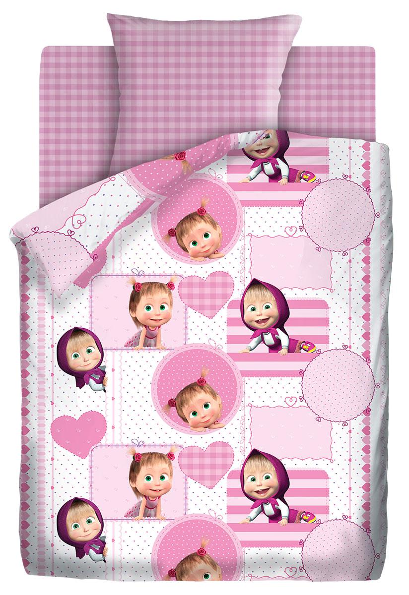 Комплект постельного белья детский Маша и Медведь