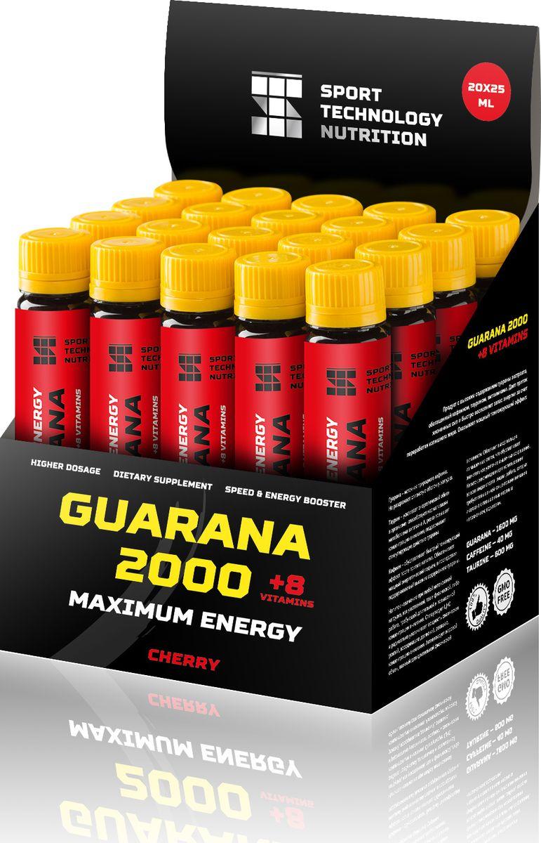 "Напиток энергетический Sport Technology Nutrition ""Гуарана"", вишня, 20 шт х 25 мл"