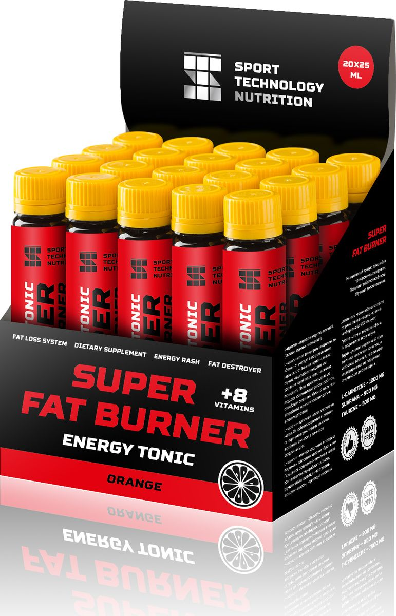 "Напиток энергетический Sport Technology Nutrition ""Super Fat Burner"", апельсин, 20 шт х 25 мл"