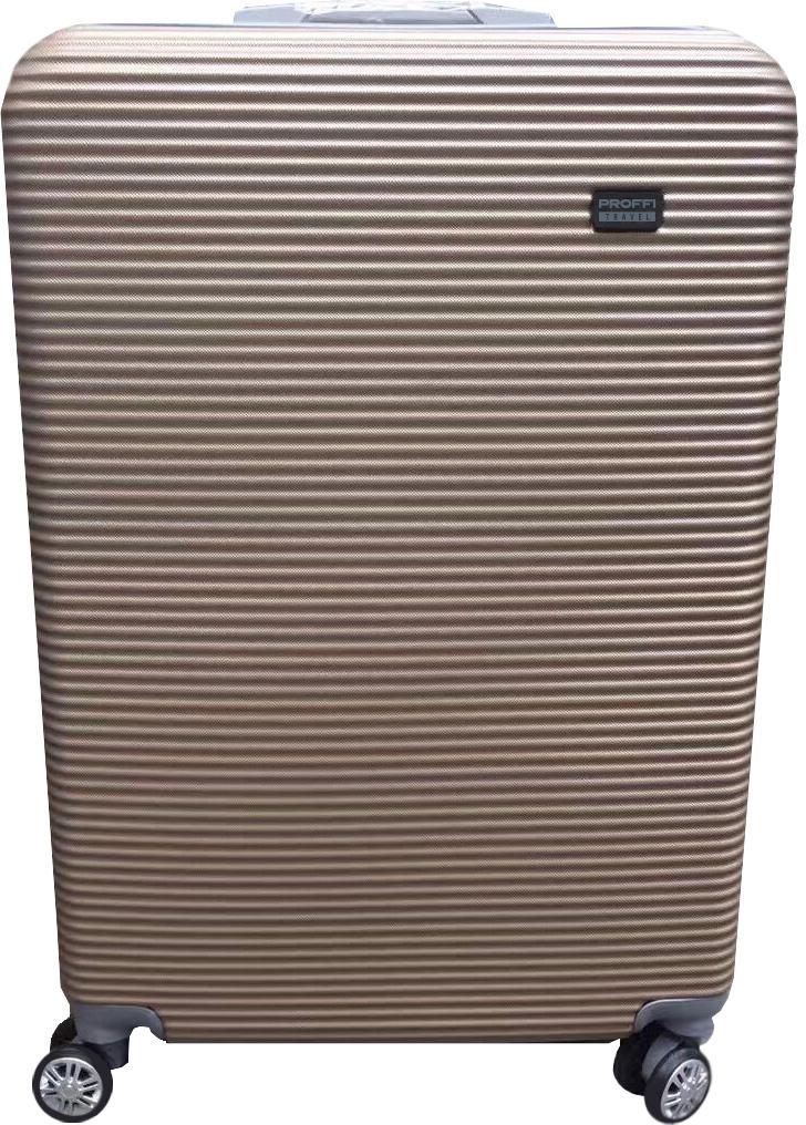 Чемодан Proffi, цвет: бежевый, 78 х 49 х 35 см, 120 л. PH8860 чемоданы proffi чемодан ретро