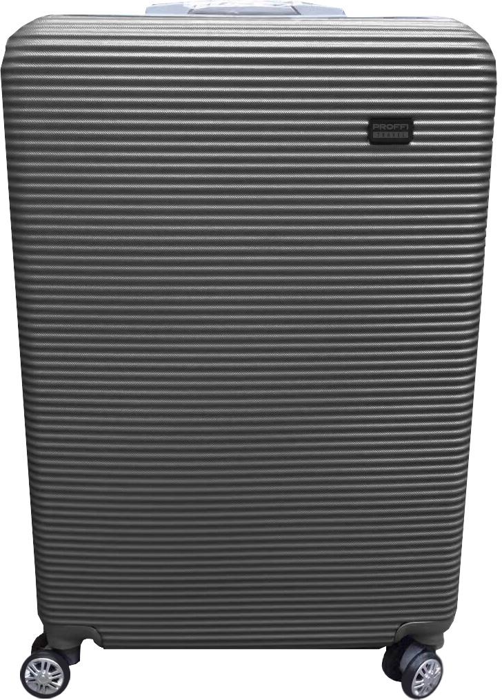 Чемодан Proffi, цвет: серый, 53 х 34 х 20 см, 50 л. PH8858 чемоданы proffi чемодан ретро
