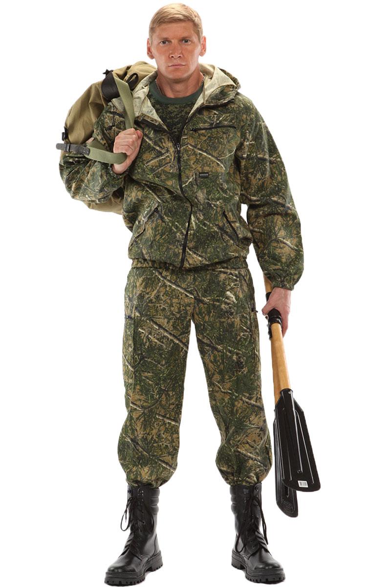 Костюм мужской URSUS Турист 1: куртка, брюки, цвет: зеленый. КОС286-К86. Размер 44/46-170/176