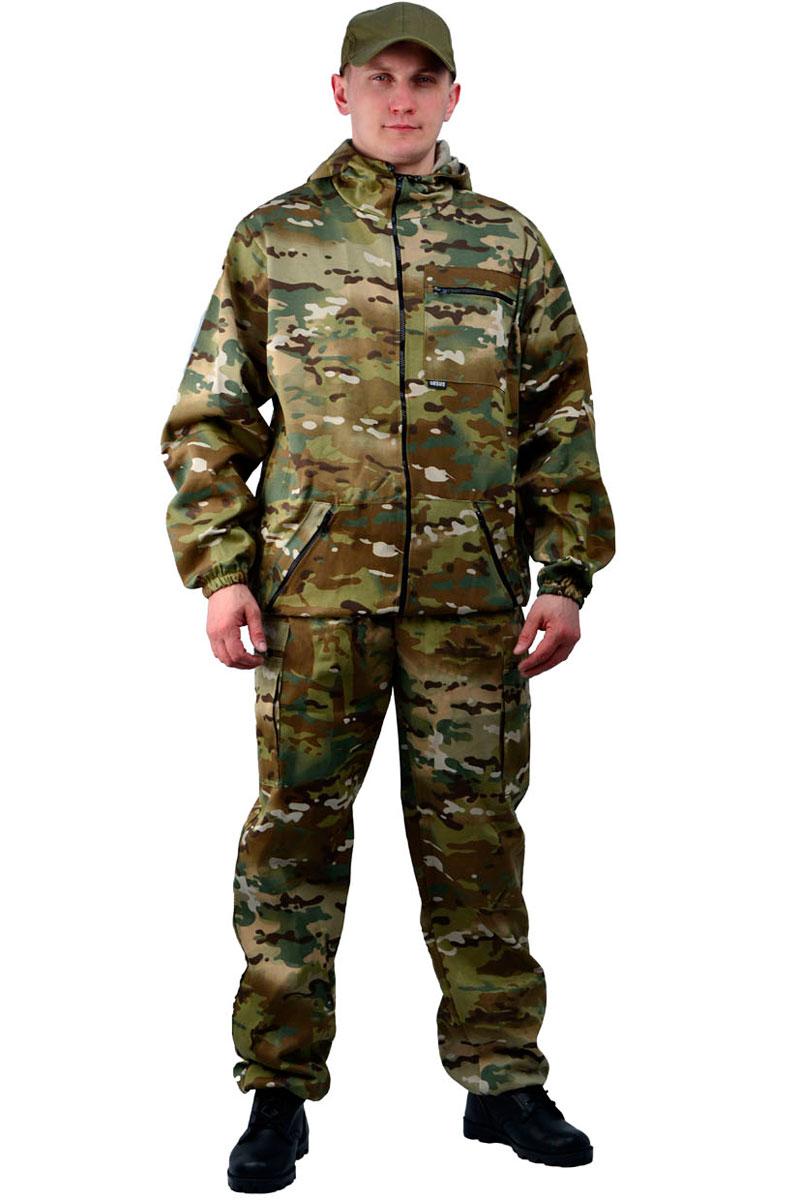 Костюм мужской URSUS Турист 1: куртка, брюки, цвет: разноцветный. КОС286-К183-04. Размер 52/54-182/188 2014 летний костюм альтернативных не мейнстримовых мужской ночной клуб высокий воротник личности корейский стилисты имеют размер