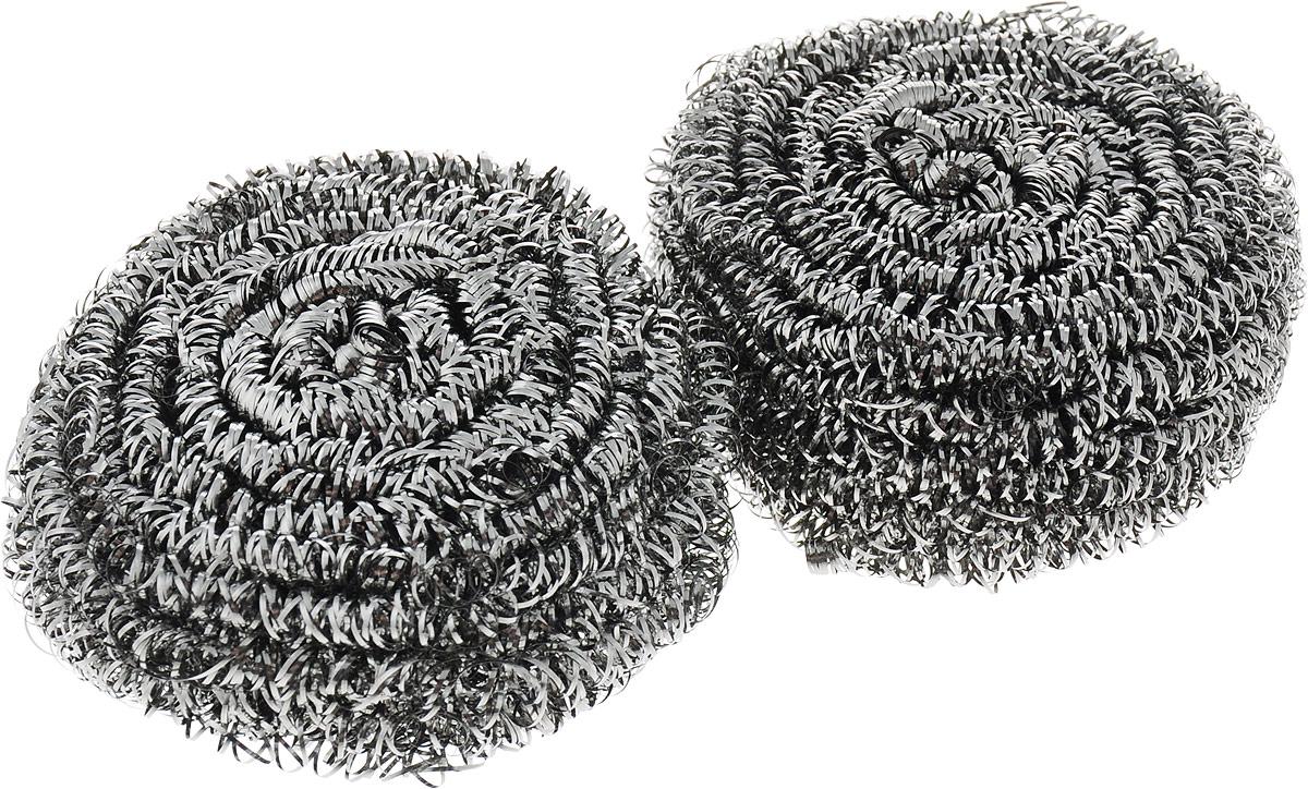 Губка металлическая Фэйт Фэнрик 2, цвет: серый, 2 шт1.4.01.141