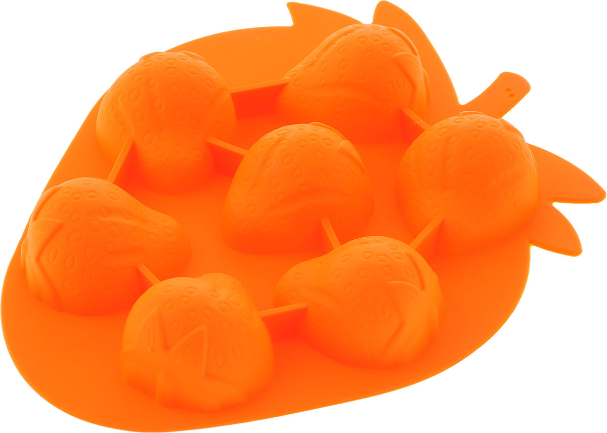 "Форма для льда ""Primani"", цвет: оранжевый, 13 х 12,5 х 1,5 см"