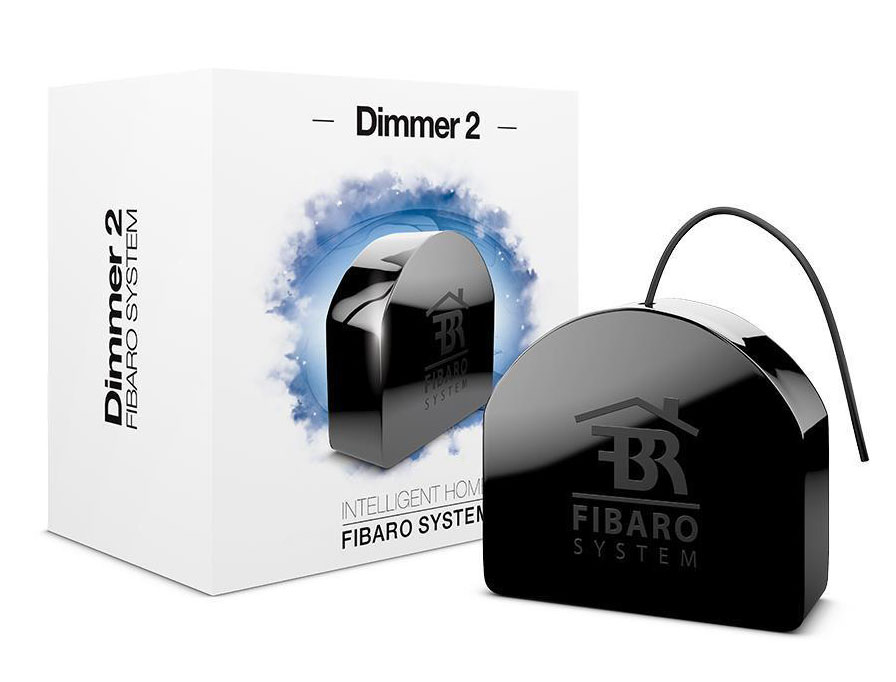 Fibaro DIMMER 2 FGD-212 ZW5, Black устройство умного дома ewelink eu standard wireless remote control light dimmer switches crystal glass panel touch dimmer switch for smart home