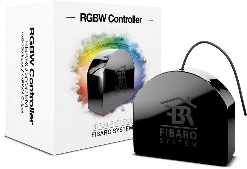 Fibaro RGBW CONTROLLER FGRGBWM-441, Black устройство умного дома free shipping 16 lot dmx 18x10w rgbw led par can light for stage decoration