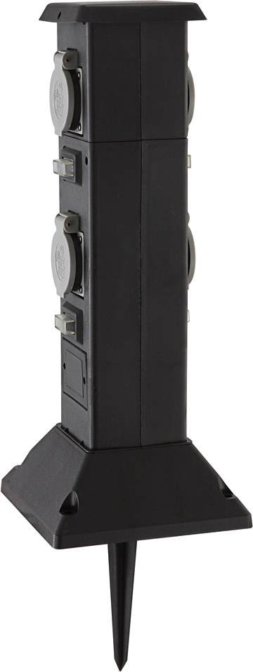 """Уличная автоматизированная розетка Globo """"Pietra I"""", оборудованная таймером для включения и выключения электроприборов, позволяет автоматизировать процессы в вашем доме."""