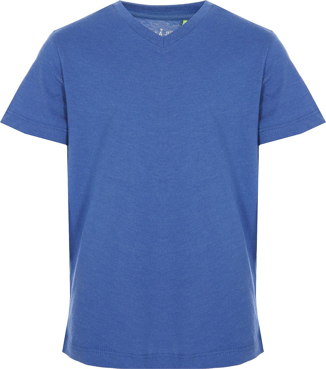 Футболка для мальчика Sela, цвет: ярко-синий меланж. Ts-811/301-8224. Размер 128 футболка базовая с u образным вырезом
