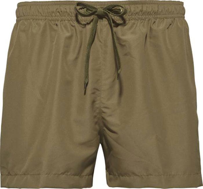 Фото Шорты для плавания мужские Calvin Klein Underwear, цвет: темно-зеленый. KM0KM00162_314. Размер S (48)