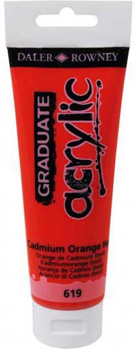 Daler Rowney Краска акриловая Graduate цвет кадмий оранжевый (имитация) 120 мл