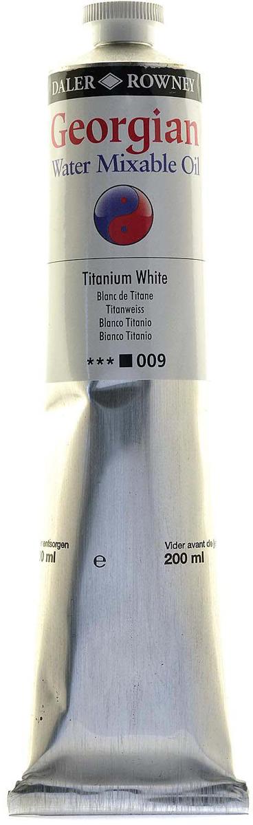 Daler Rowney Краска масляная водоразмываемая Georgian цвет белила титановые, 200 мл