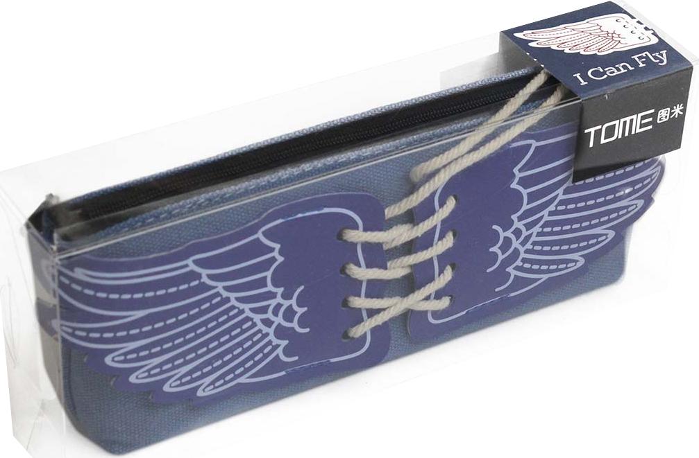 Calligrata Пенал школьный Крылья цвет синий