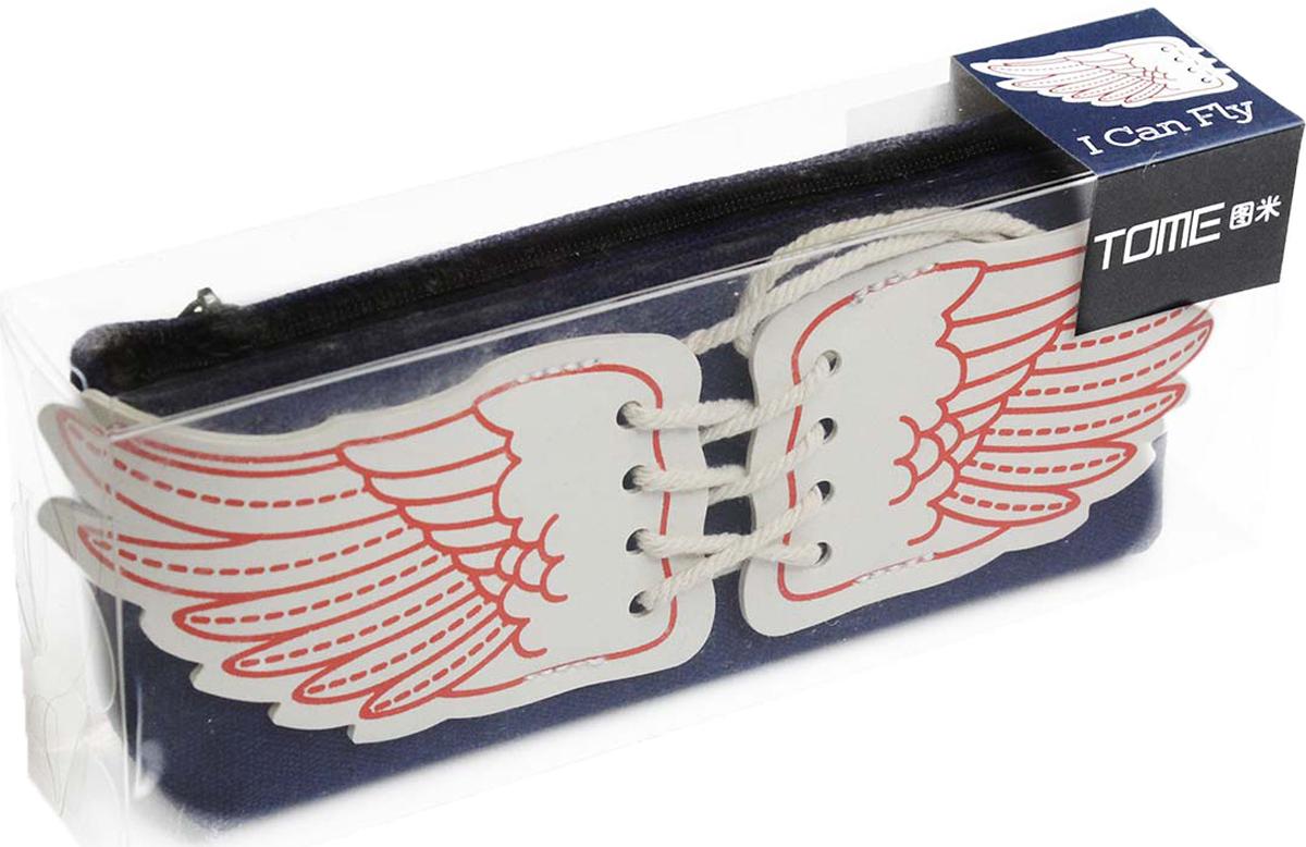 Calligrata Пенал школьный Крылья цвет розовый 2887450
