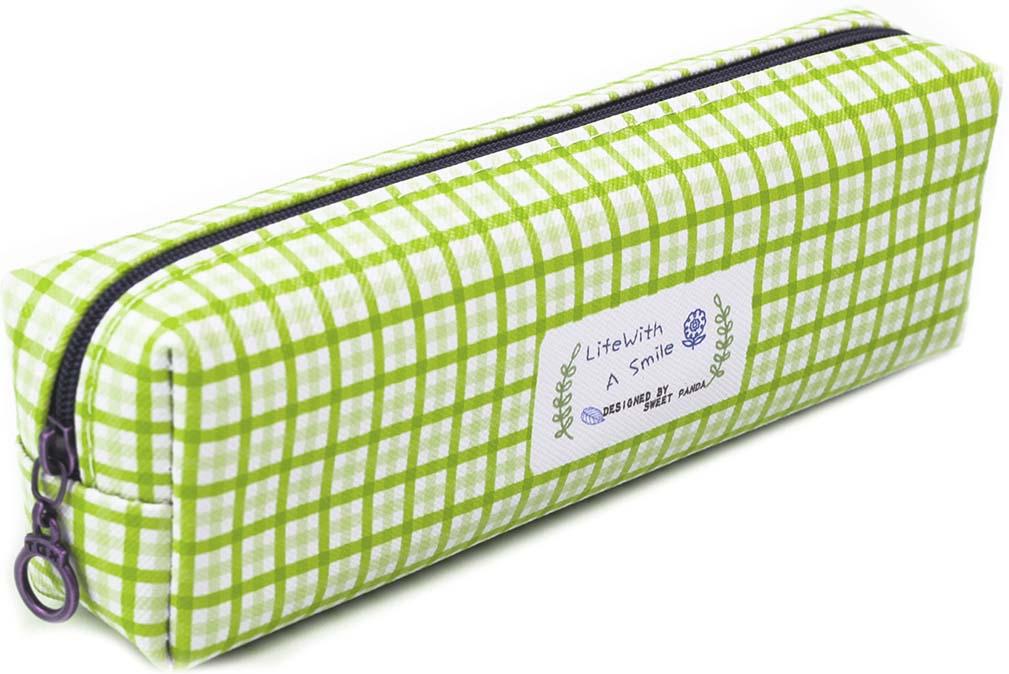 Calligrata Пенал школьный Шотландка цвет зеленый 2873674 пенал школьный мишка силикон 43816