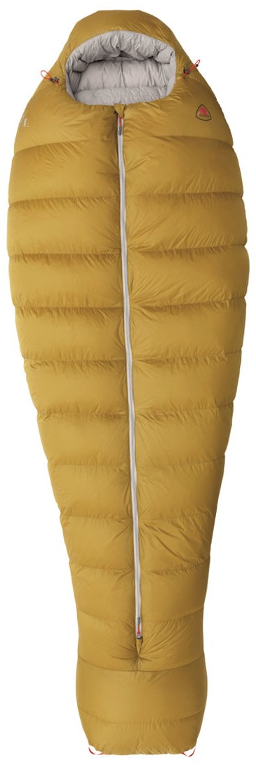 """Комфортная модель спального мешка анатомической формы из серии Couloir с защитой от заедания молнии, 3D капюшоном, двухсторонней молнией, двойной утепляющей планкой и тепловоротником. В качестве утеплителя используется утиный пух 750 FP сидрофобной пропиткой, внешняя ткань и подкладка из мягкого, легкого и прочного нейлона Taffeta. Благодаря качественной молнии YKK, спальный мешок легко застегивается, надежно обеспечивая теплом. Модель подходит для использования в летний период, а также с поздней весны до ранней осени.Особенности:Центральная молния для легкого доступа и удобства при частичном открытии (когда вы сидите в спальнике); 3D капюшон; Двухсторонняя молния с двойной утепляющей планкой уменьшает продувание и потерю тепла; Новое расположение термоворотника и новая форма исключают продувание и потерю тепла; Затяжки капюшона расположены с двух сторон для удобной регулировки; Затяжки утепляющего воротника расположены с двух сторон для удобной регулировки; Нижняя часть спальника выполнена в форме """"акулий плавник""""; Защита от заедания молнии; Компрессионный мешок; Сетчатый мешок для хранения; Анатомическая форма спальника оптимизирует теплоизоляционные свойства и вес; Гидрофобный пух препятствует слеживанию утеплителя в сырых условиях; Петли для сушки спального мешка."""