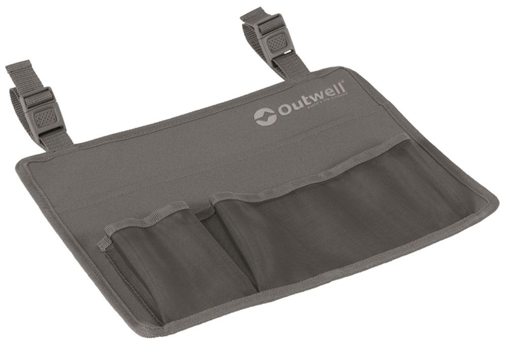 Универсальный органайзер на ремнях, который можно прикрепить к любому креслу от Outwell.- Сетчатые карманы для личных вещей- Ремни регулируемой длины- Многофункциональный- Удобное крепление к кемпинговой мебели Outwell