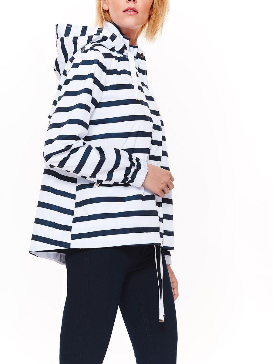 Куртка женская Top Secret, цвет: белый, синий. SKU0869BI. Размер 42 (50)