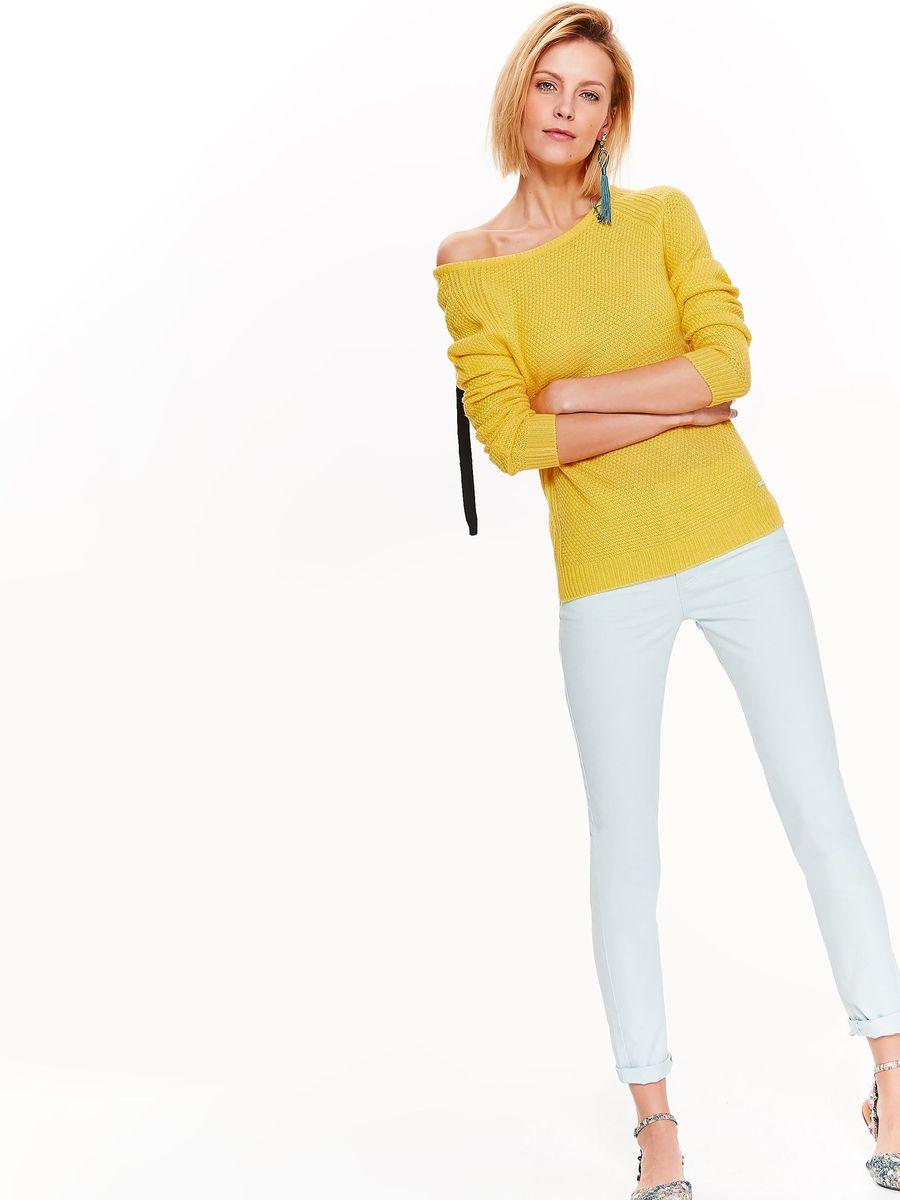 Свитер женский Top Secret, цвет: желтый. SSW2321ZO. Размер 42 (50) свитер quelle top secret 1021007