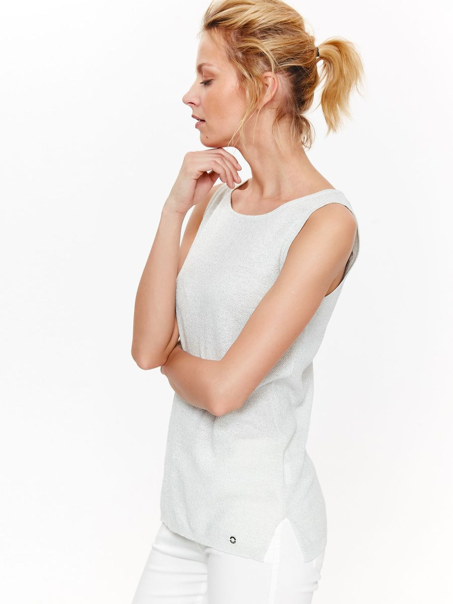 Топ женский Top Secret, цвет: белый. SWS0133BI. Размер 42 (50) женский гардероб