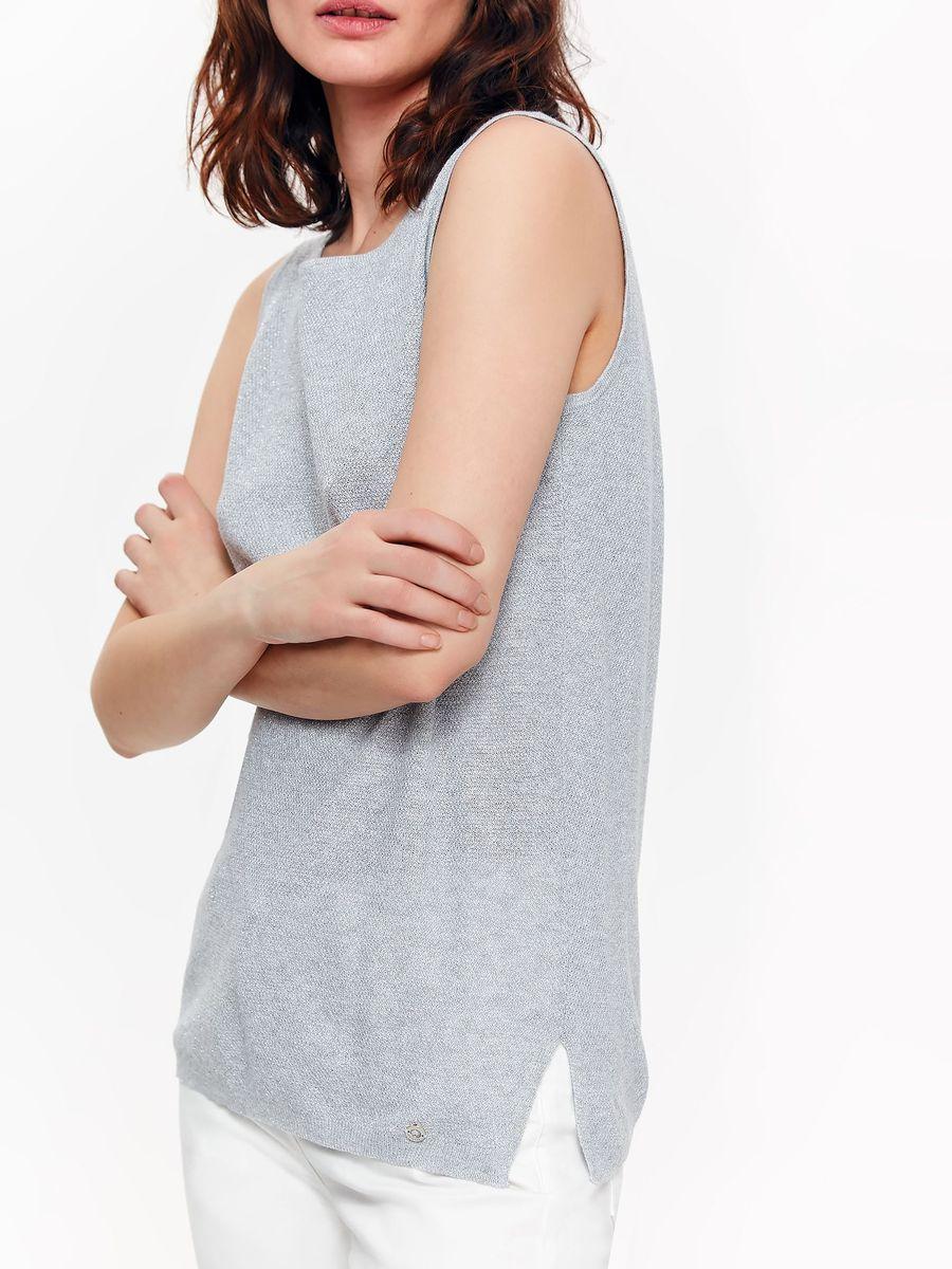 Топ женский Top Secret, цвет: серый. SWS0133GB. Размер 42 (50) женский гардероб