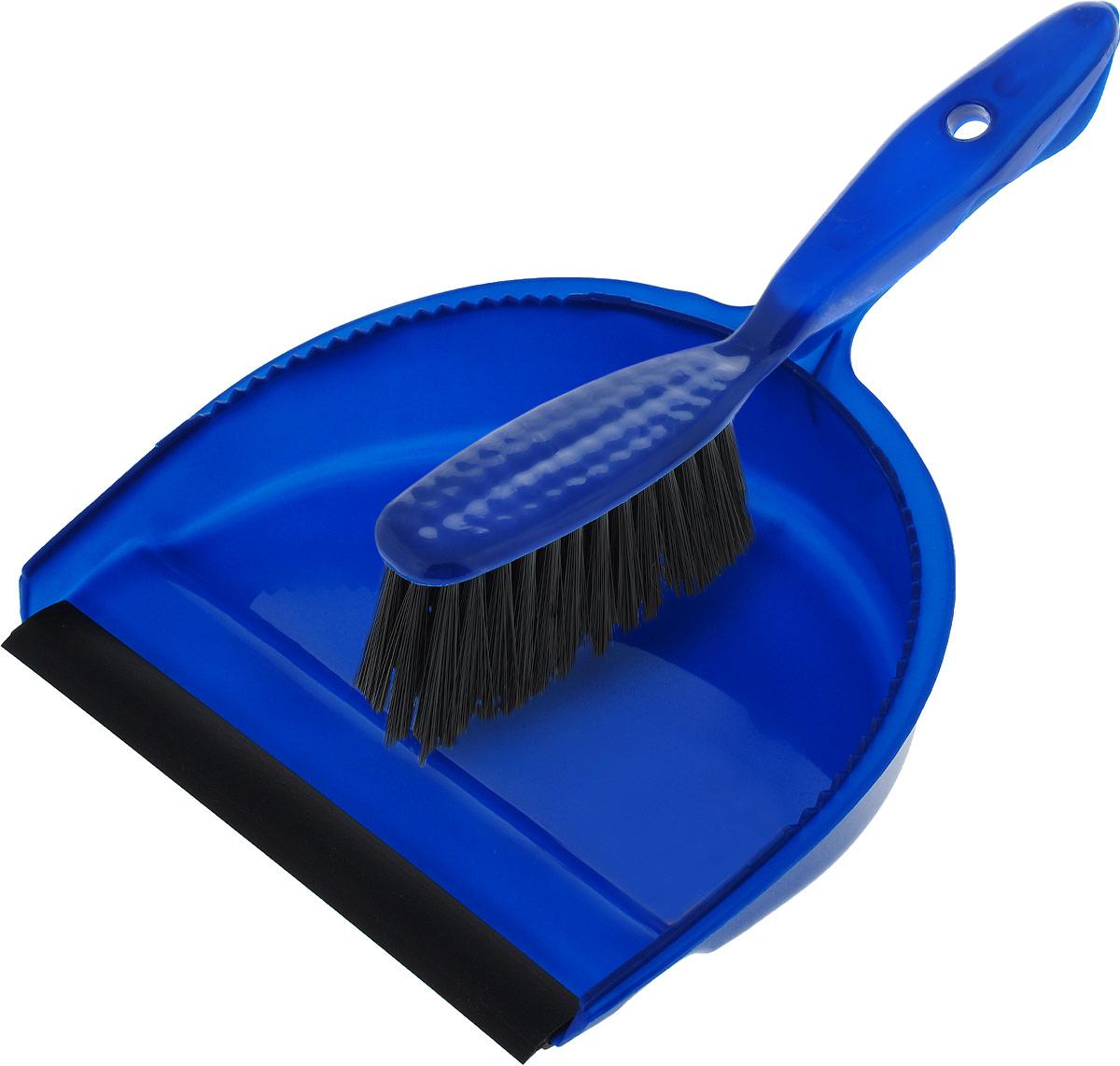 Комплект для уборки Фэйт Эко, цвет: синий, 2 предмета щетка фэйт щетка для мытья окон принт матрица фэйт