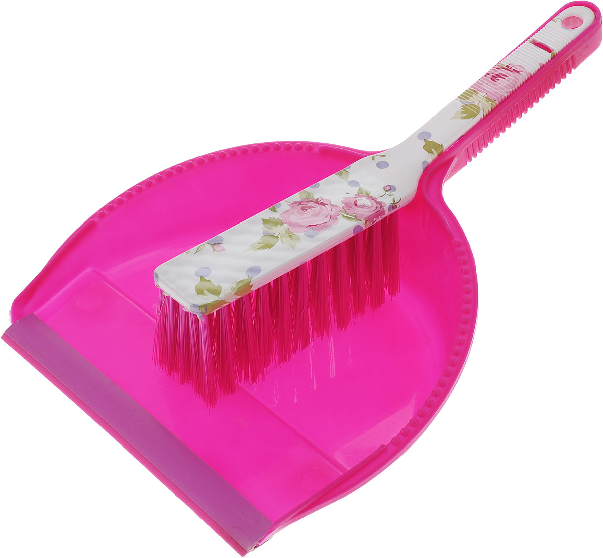 Набор для уборки МФК-профит Розы: щетка-сметка, совок, цвет: розовый мфк профит набор губка боб школа 3 предмета