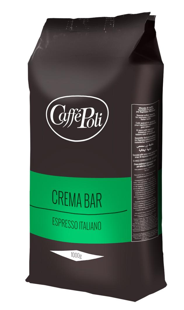 Caffe Poli Crema Bar кофе в зернах, 1 кг