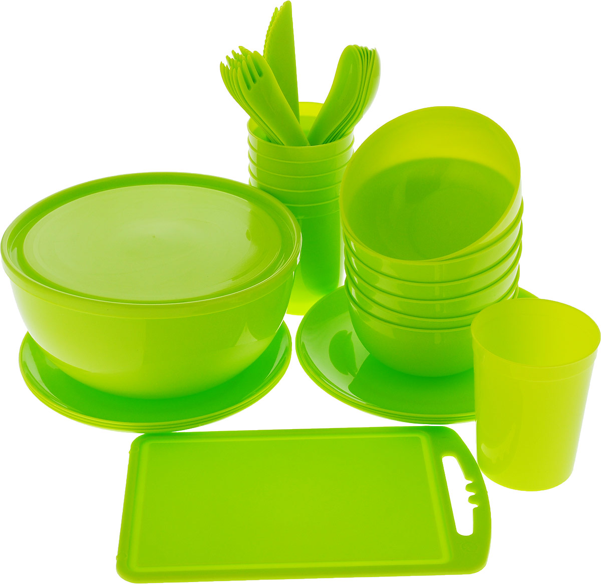 Набор для пикника Идеал  Plastic Centre, на 6 персон, 38 предметов набор для пикника на 6 персон picnic ca8477