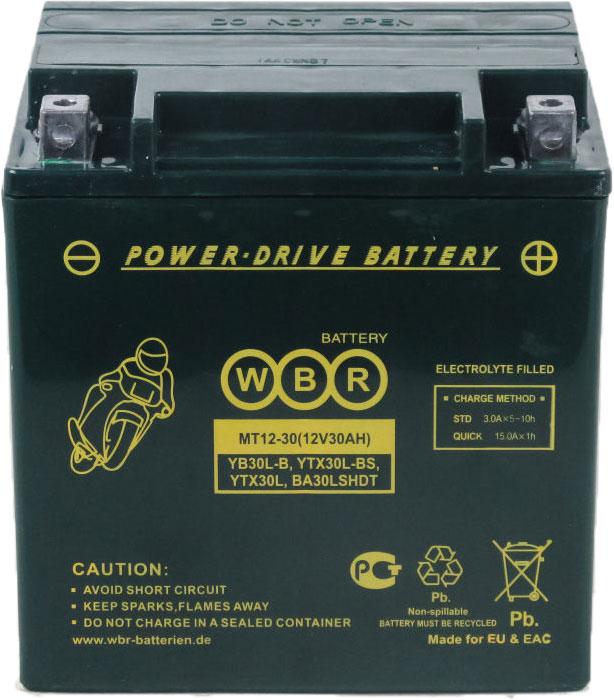 WBR MT12-30 аккумуляторная батарея для мотоцикла/квадроцикла