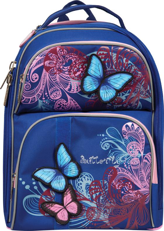 Berlingo Ранец школьный Medium Butterfly рюкзак berlingo medium butterfly ru038041 254959