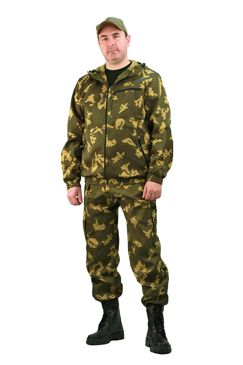 Костюм рыболовный мужской URSUS Турист 1: куртка, брюки, цвет: хаки. КОС286-К2049. Размер 60/62-182/188 2014 летний костюм альтернативных не мейнстримовых мужской ночной клуб высокий воротник личности корейский стилисты имеют размер