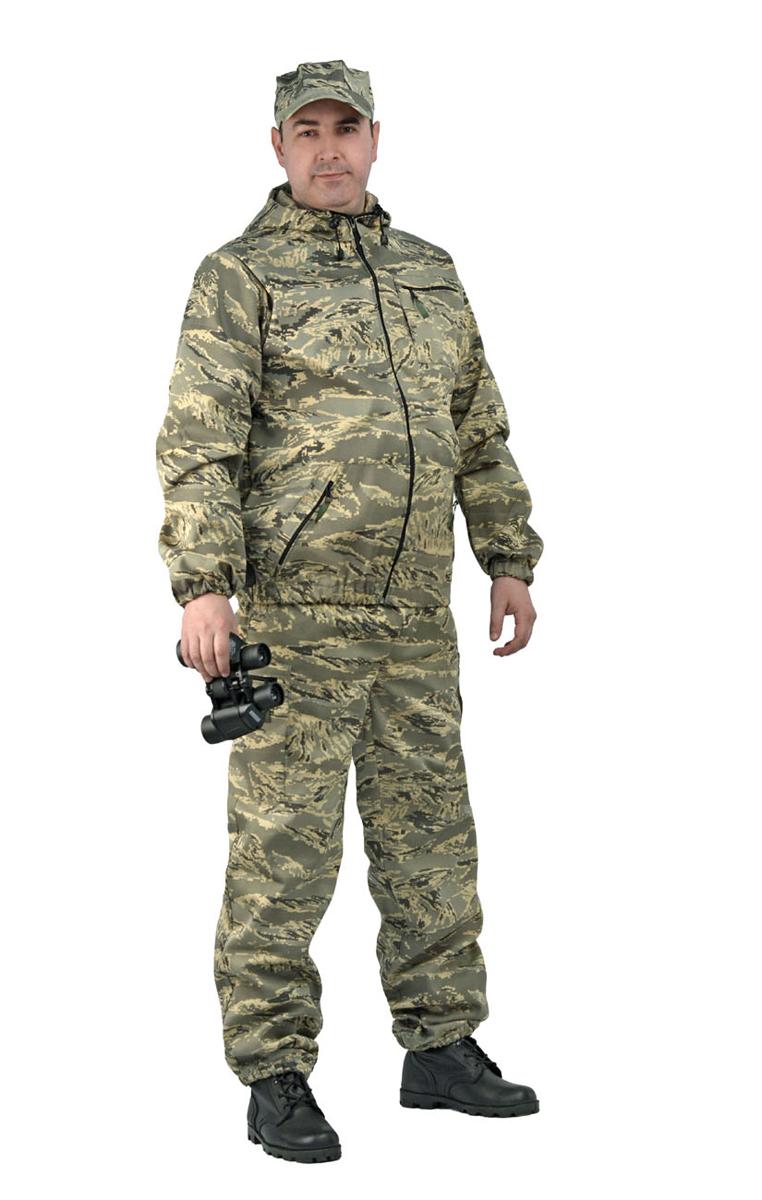 Костюм рыболовный мужской URSUS Турист 1: куртка, брюки, цвет: серый. КОС286-тсК114. Размер 44/46-170/176