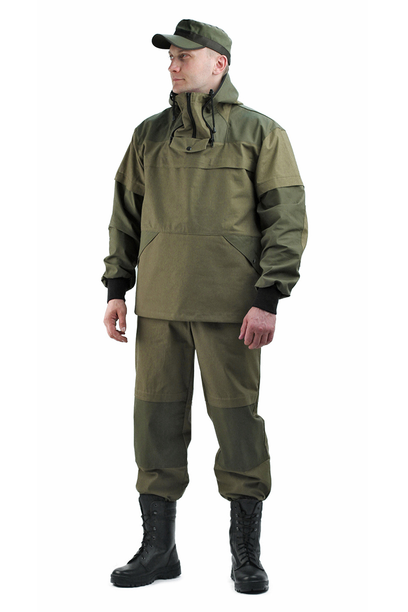 Костюм противоэнцефалитный мужской URSUS: куртка, брюки, цвет: оливковый. КОС283-3802. Размер 56/58-170/176